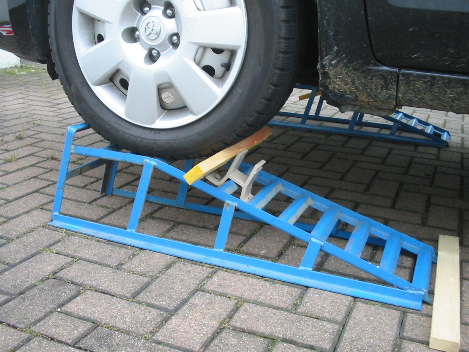Prius Aufbocken Auf Rampe Priusforum