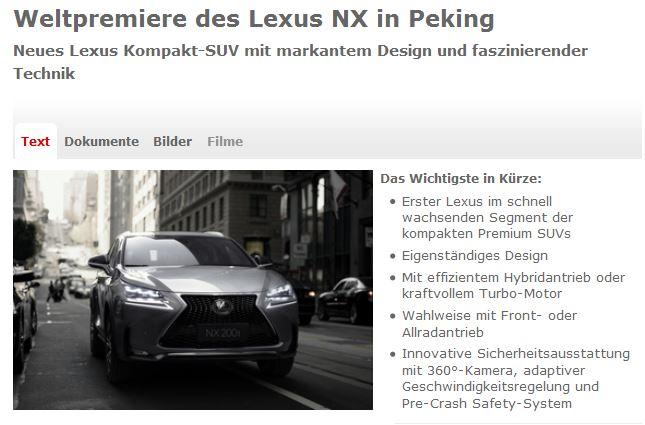 Der neue Lexus NX
